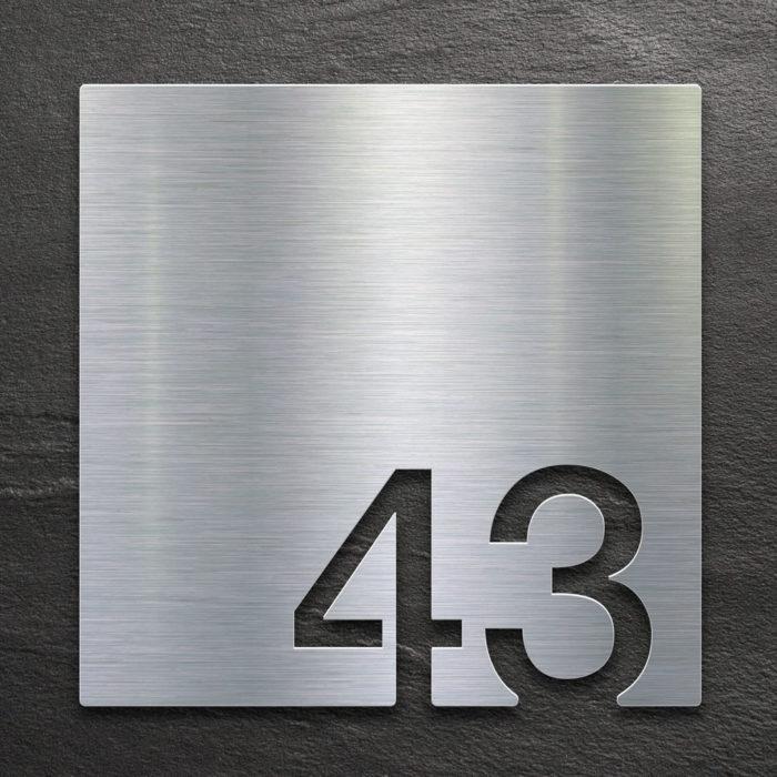 Edelstahl Zimmernummer 43 / Z.03.043.E 1