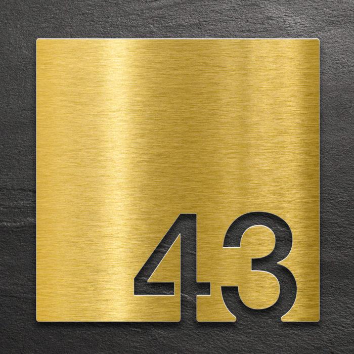 Messing Zimmernummer 43 / Z.03.043.M 1
