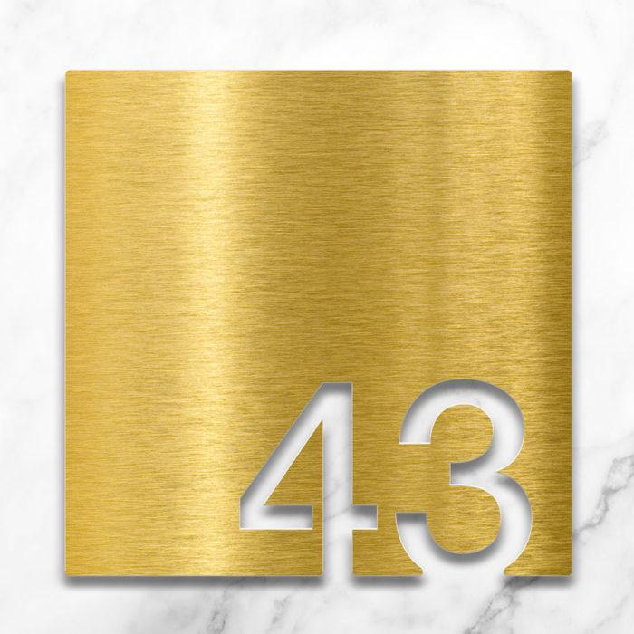 Messing Zimmernummer 43 / Z.03.043.M 2