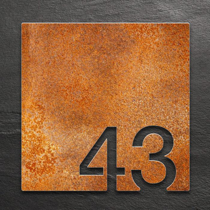 Vintage Zimmernummer 43 / Z.03.043.R 1