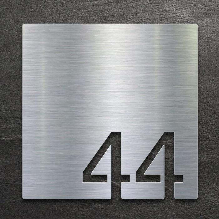 Edelstahl Zimmernummer 44 / Z.03.044.E 1