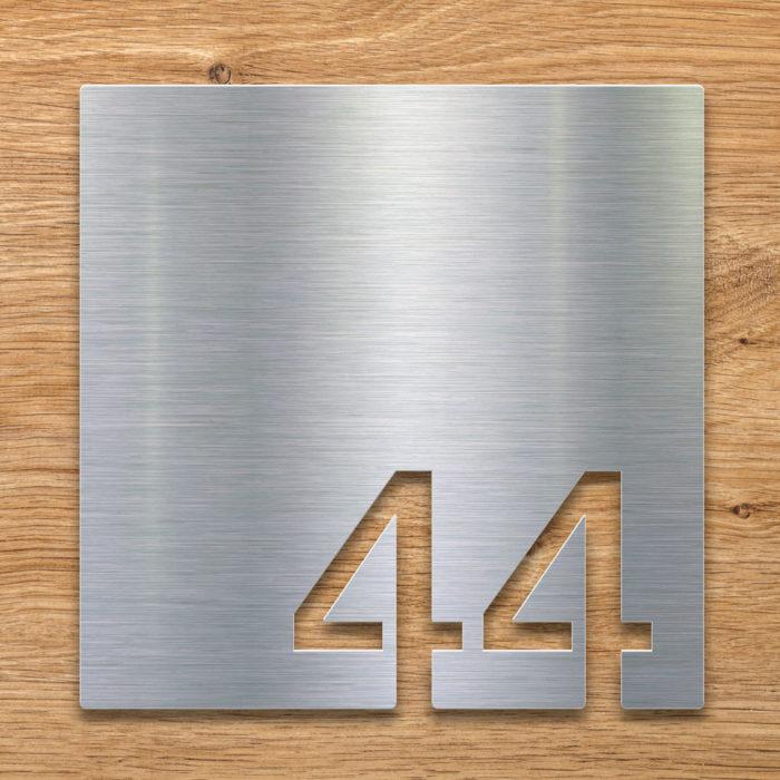Edelstahl Zimmernummer 44 / Z.03.044.E 2