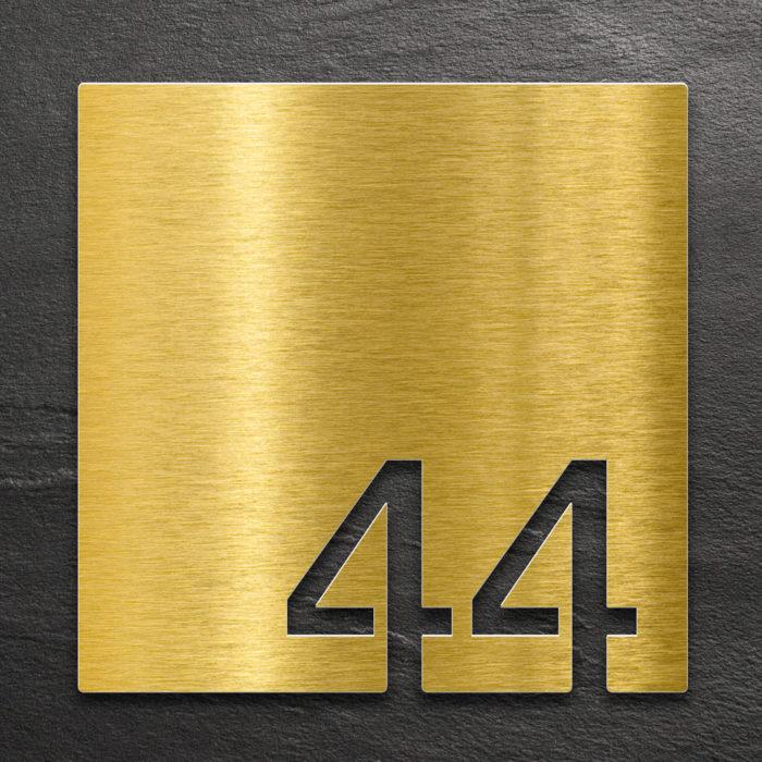 Messing Zimmernummer 44 / Z.03.044.M 1