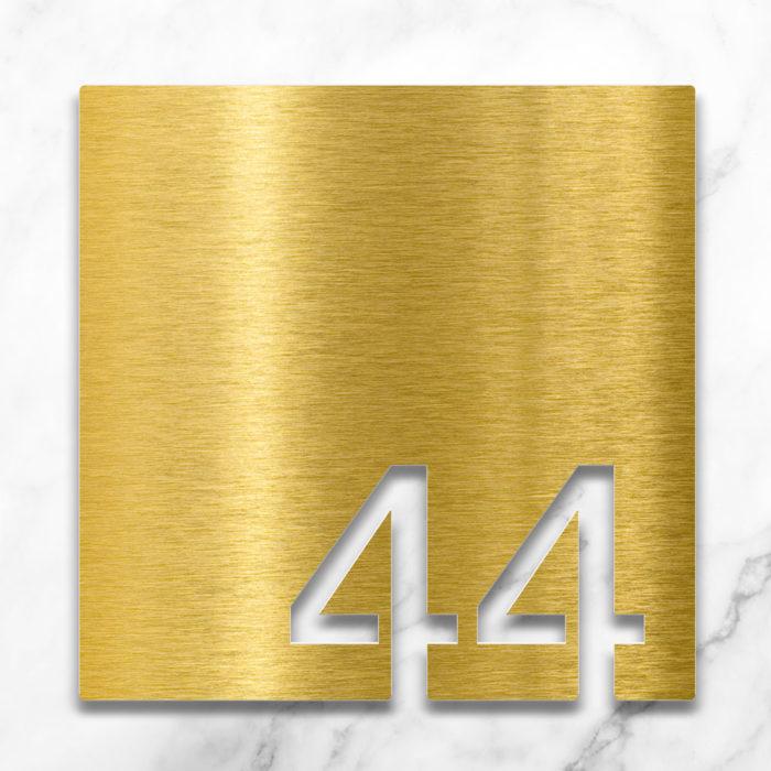 Messing Zimmernummer 44 / Z.03.044.M 2