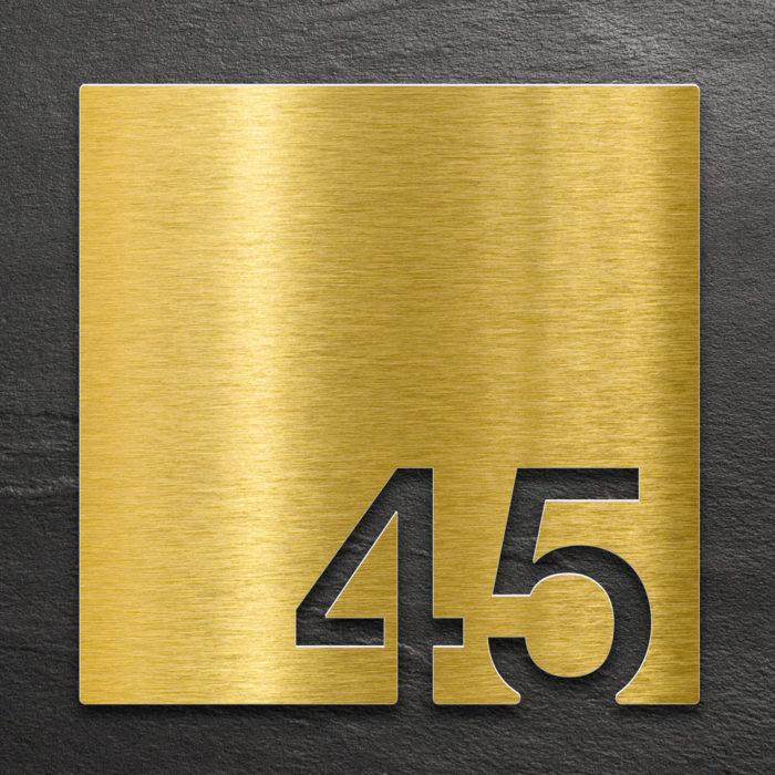 Messing Zimmernummer 45 / Z.03.045.M 1