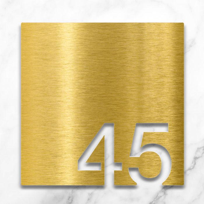 Messing Zimmernummer 45 / Z.03.045.M 2