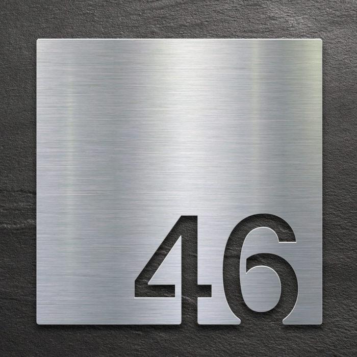Edelstahl Zimmernummer 46 / Z.03.046.E 1