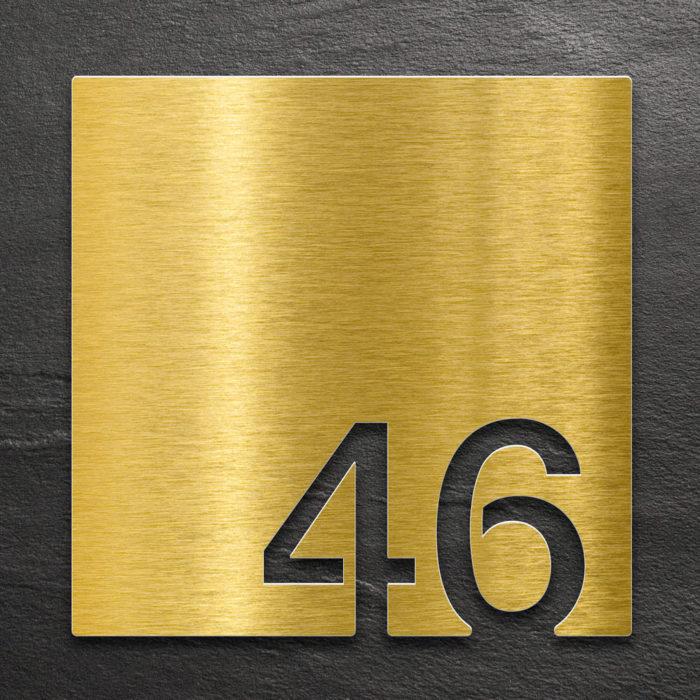 Messing Zimmernummer 46 / Z.03.046.M 1