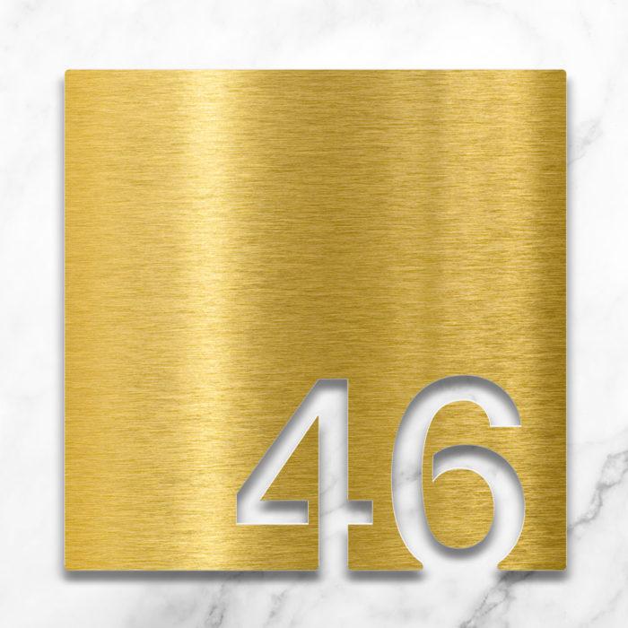 Messing Zimmernummer 46 / Z.03.046.M 2