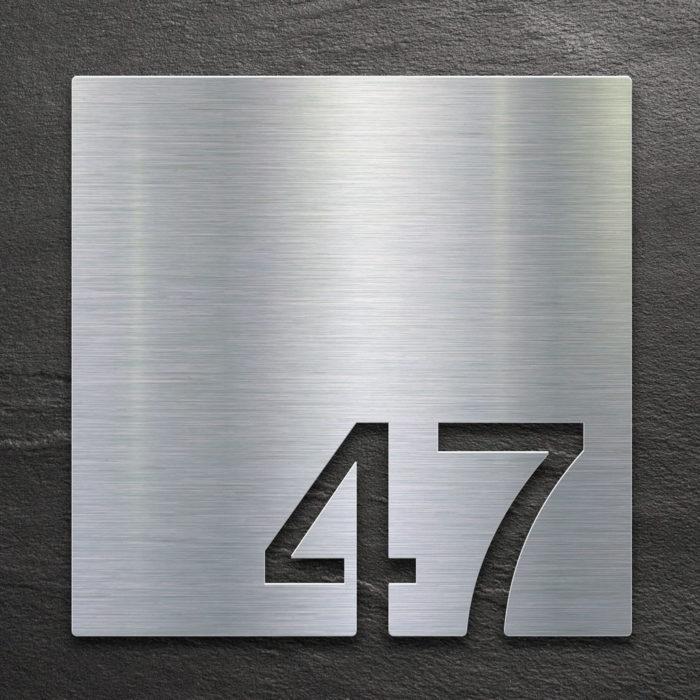 Edelstahl Zimmernummer 47 / Z.03.047.E 1