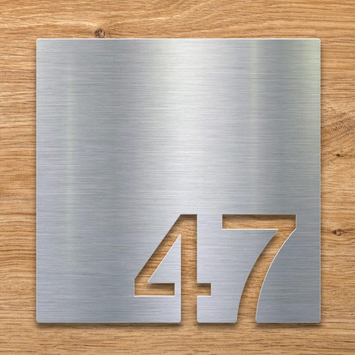 Edelstahl Zimmernummer 47 / Z.03.047.E 2