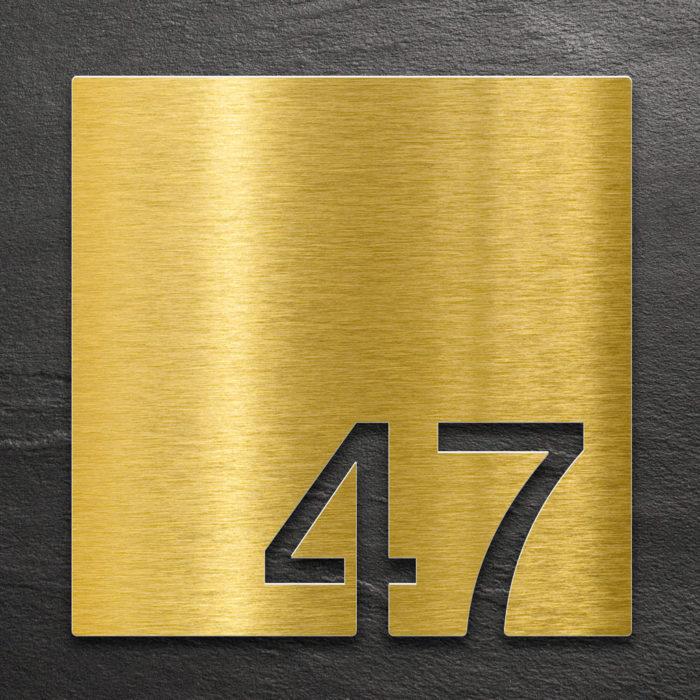 Messing Zimmernummer 47 / Z.03.047.M 1