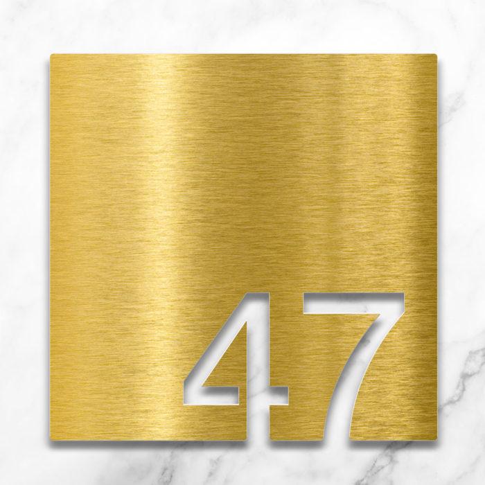 Messing Zimmernummer 47 / Z.03.047.M 2