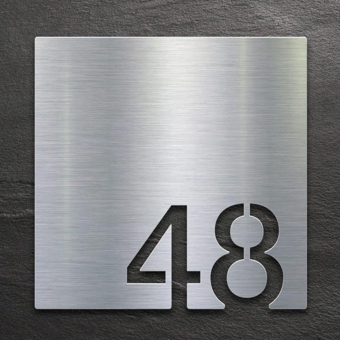 Edelstahl Zimmernummer 48 / Z.03.048.E 1
