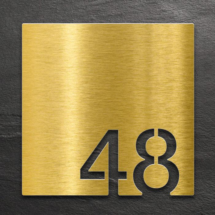 Messing Zimmernummer 48 / Z.03.048.M 1