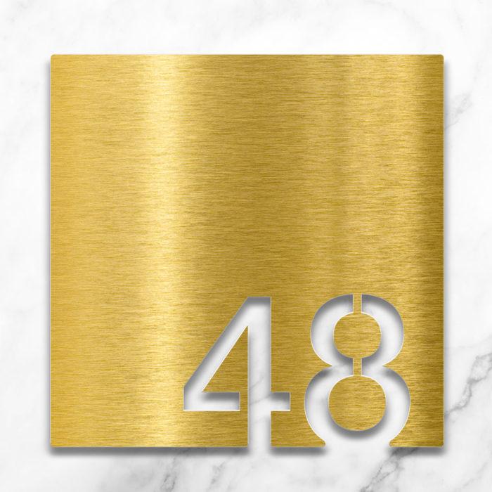Messing Zimmernummer 48 / Z.03.048.M 2
