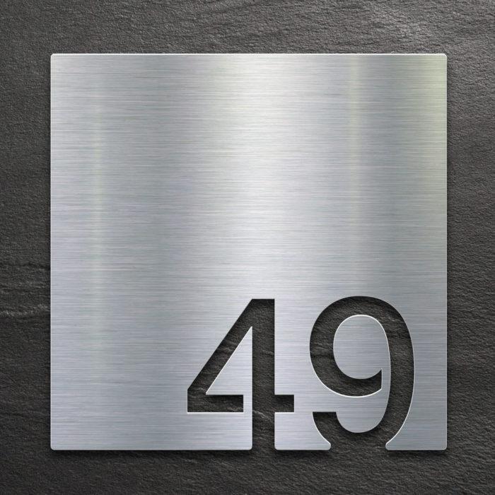 Edelstahl Zimmernummer 49 / Z.03.049.E 1