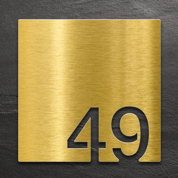 Messing Zimmernummer 49 / Z.03.049.M 1