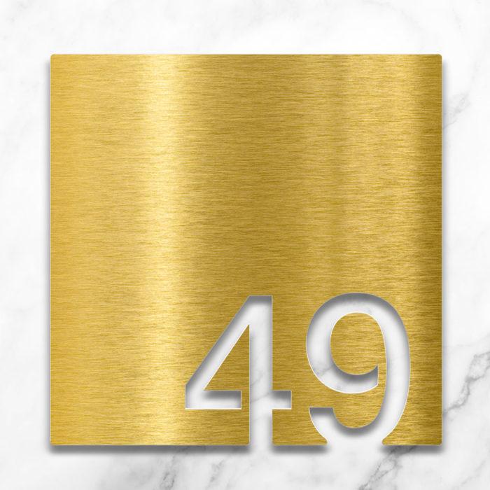 Messing Zimmernummer 49 / Z.03.049.M 2