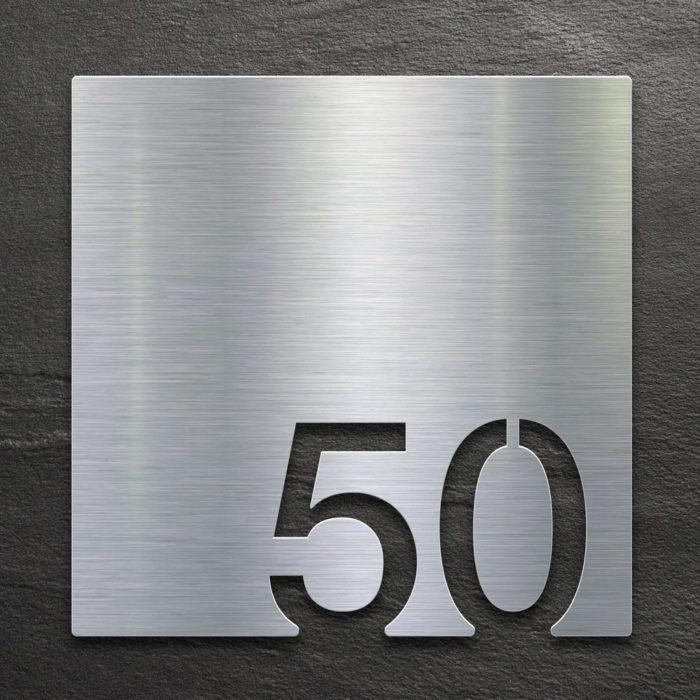 Edelstahl Zimmernummer 50 / Z.03.050.E 1