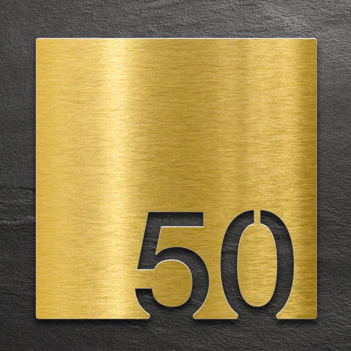 Messing Zimmernummer 50 / Z.03.050.M 1