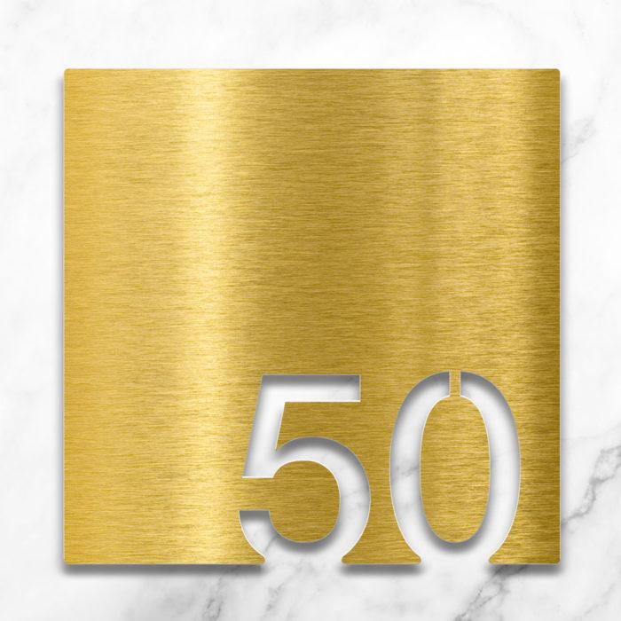 Messing Zimmernummer 50 / Z.03.050.M 2