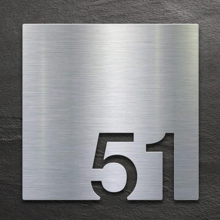 Edelstahl Zimmernummer 51 / Z.03.051.E 1