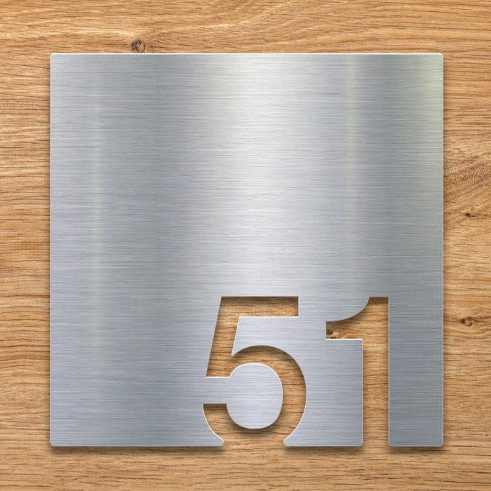 Edelstahl Zimmernummer 51 / Z.03.051.E 2