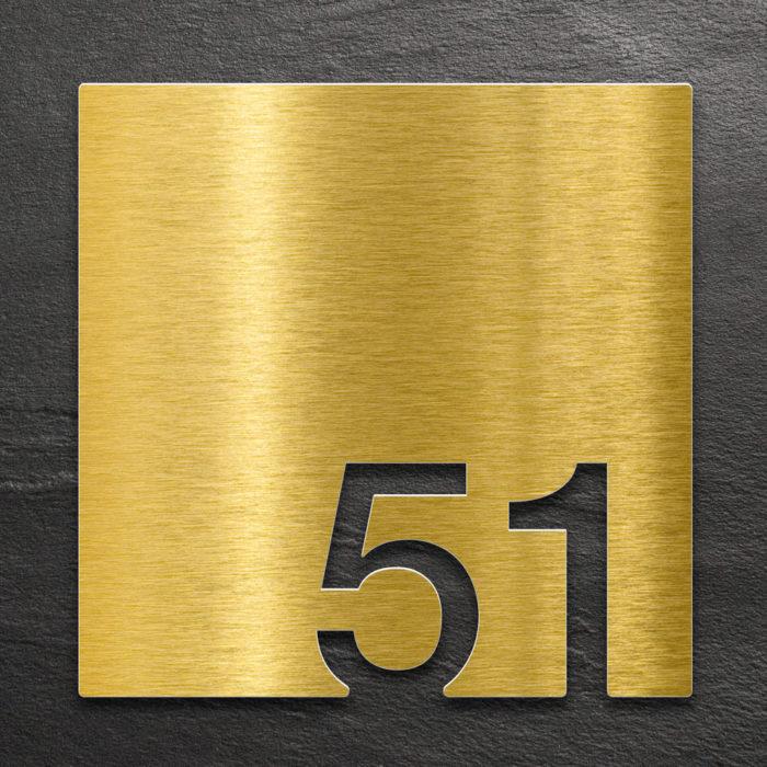 Messing Zimmernummer 51 / Z.03.051.M 1