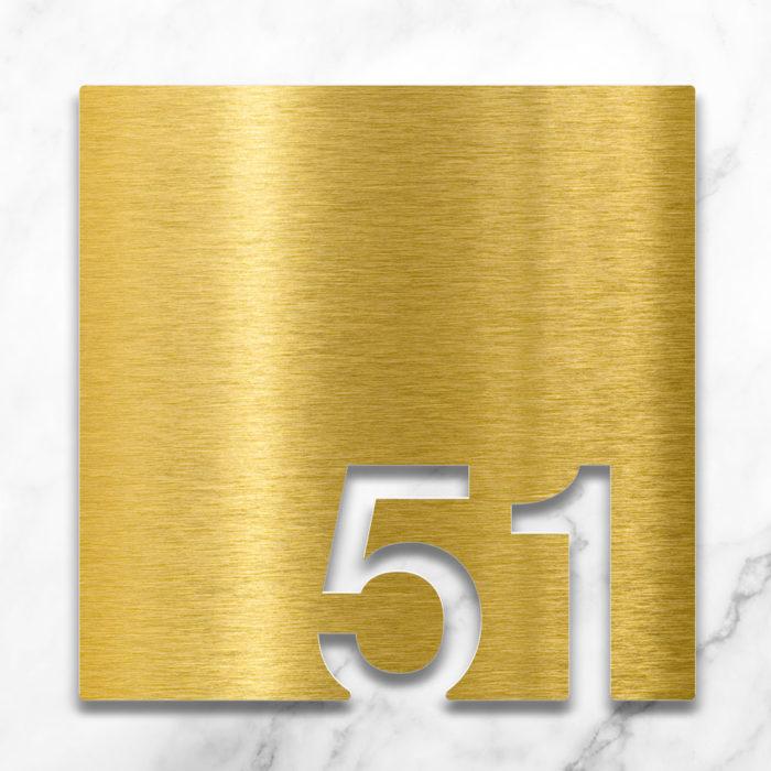 Messing Zimmernummer 51 / Z.03.051.M 2