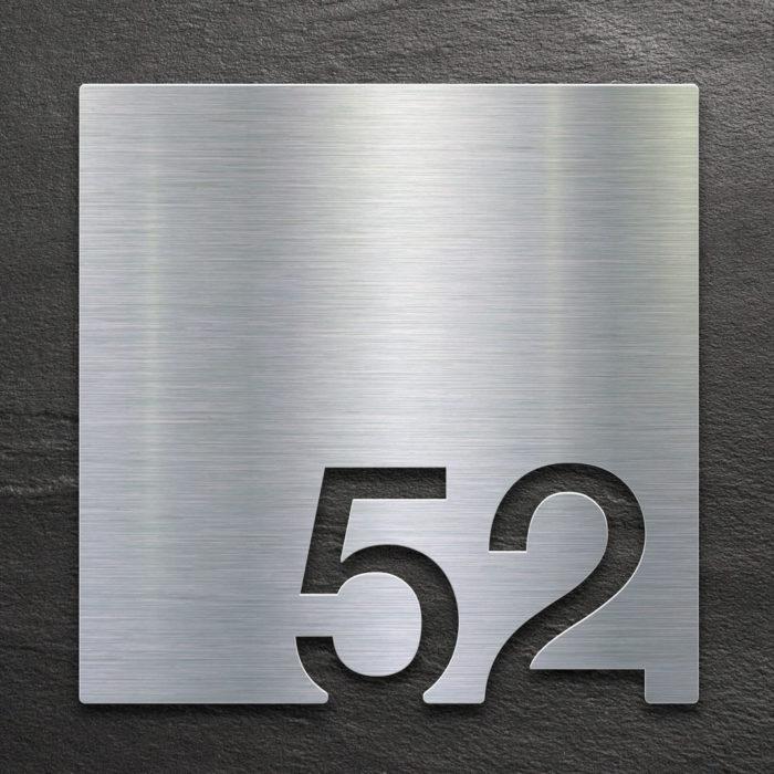 Edelstahl Zimmernummer 52 / Z.03.052.E 1