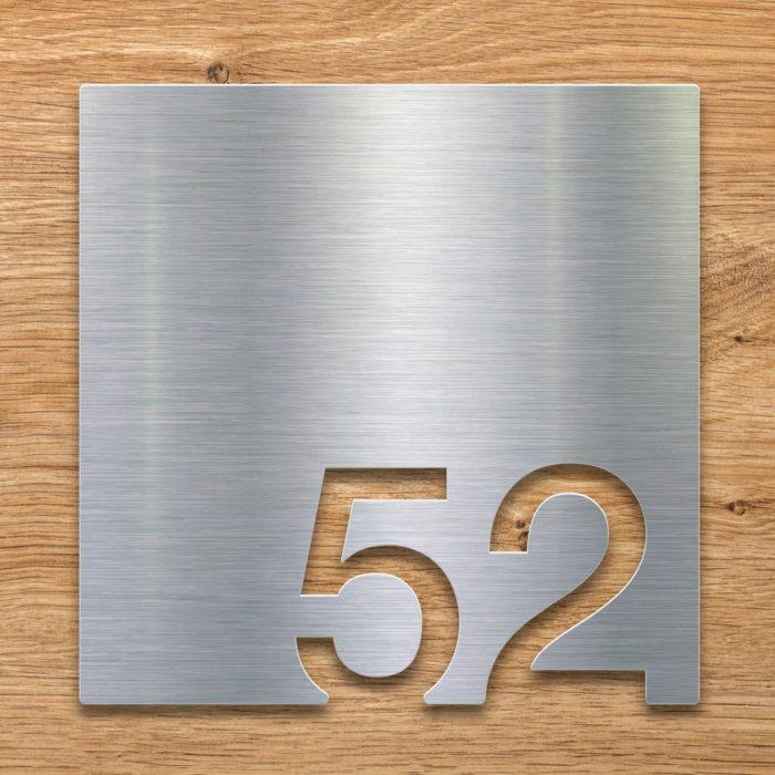 Edelstahl Zimmernummer 52 / Z.03.052.E 2