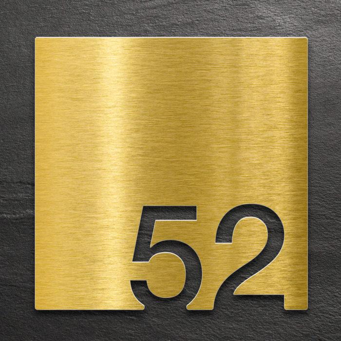 Messing Zimmernummer 52 / Z.03.052.M 1