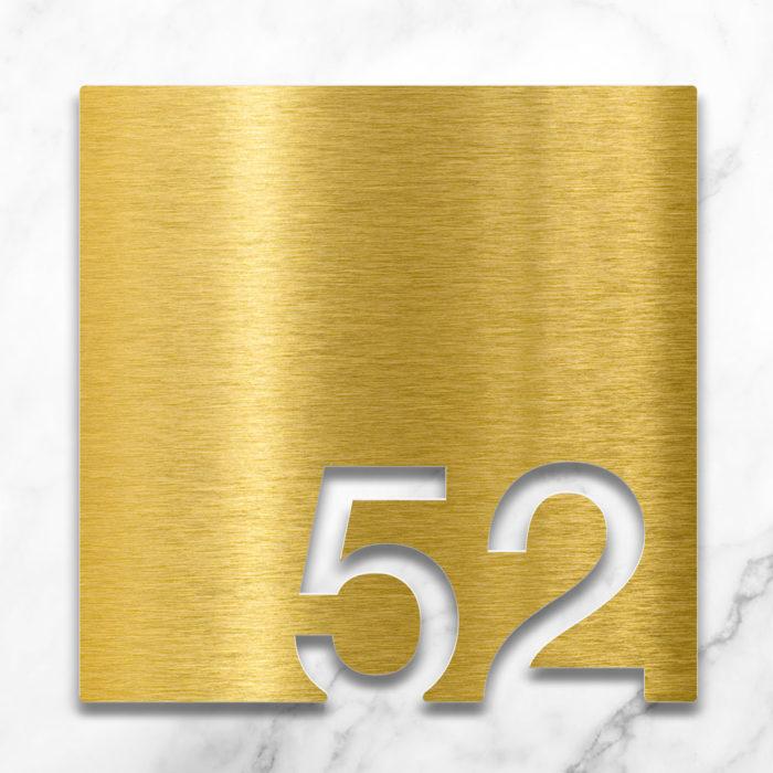 Messing Zimmernummer 52 / Z.03.052.M 2