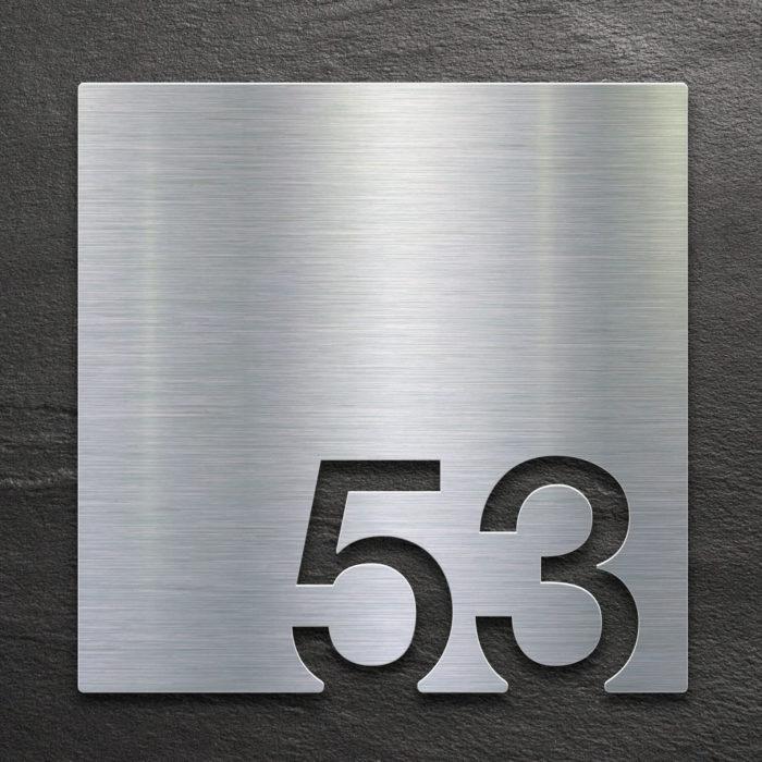 Edelstahl Zimmernummer 53 / Z.03.053.E 1