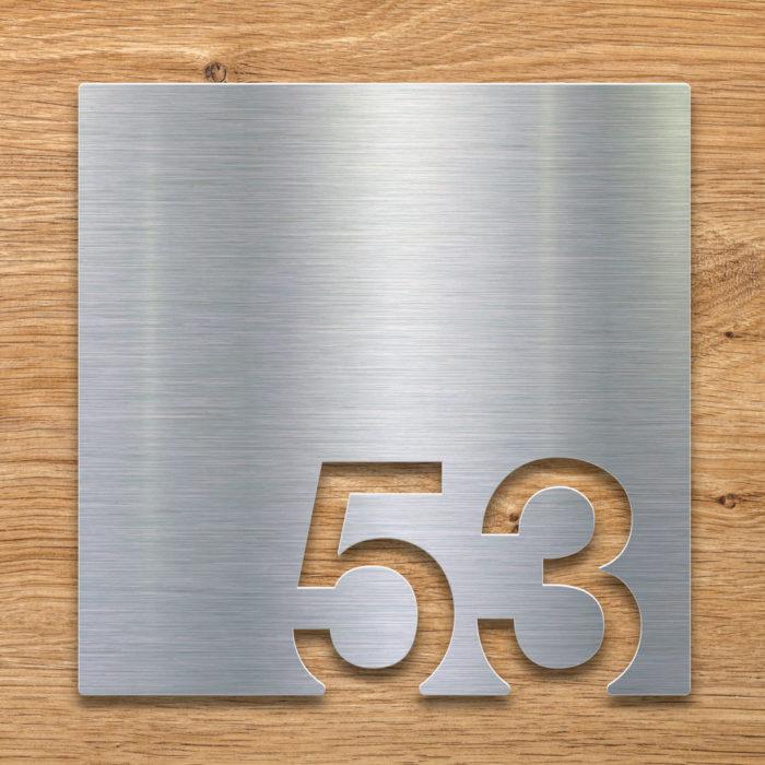 Edelstahl Zimmernummer 53 / Z.03.053.E 2