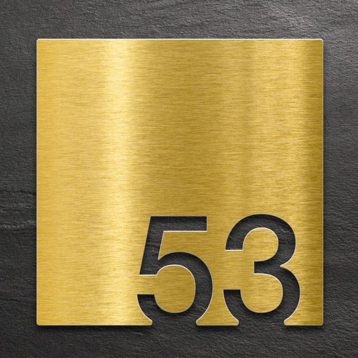Messing Zimmernummer 53 / Z.03.053.M 1