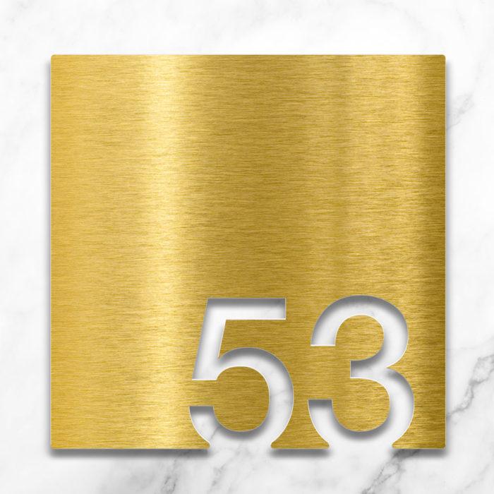 Messing Zimmernummer 53 / Z.03.053.M 2