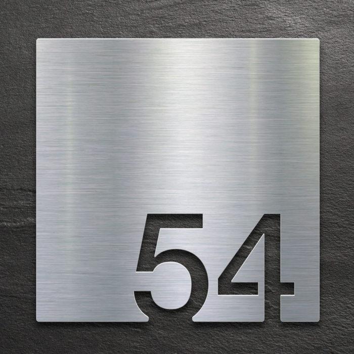 Edelstahl Zimmernummer 54 / Z.03.054.E 1