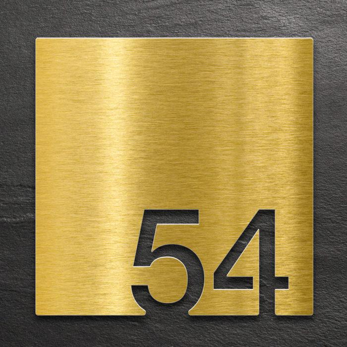 Messing Zimmernummer 54 / Z.03.054.M 1
