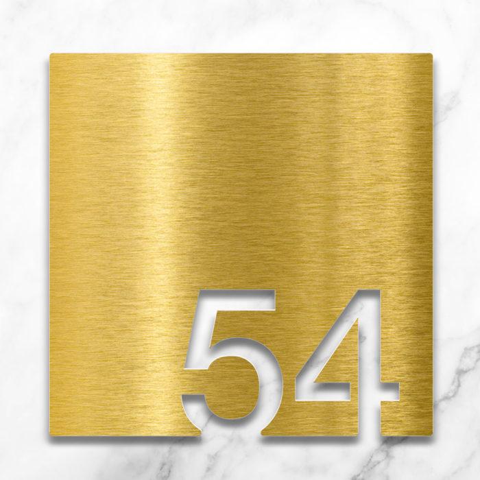 Messing Zimmernummer 54 / Z.03.054.M 2