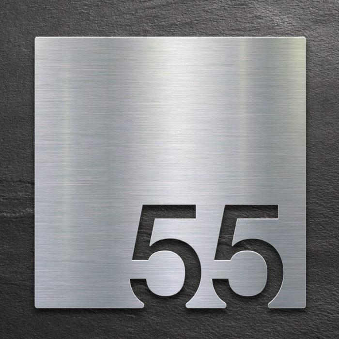 Edelstahl Zimmernummer 55 / Z.03.055.E 1