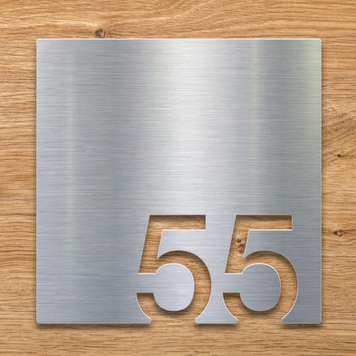Edelstahl Zimmernummer 55 / Z.03.055.E 2