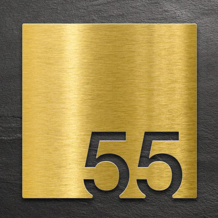 Messing Zimmernummer 55 / Z.03.055.M 1