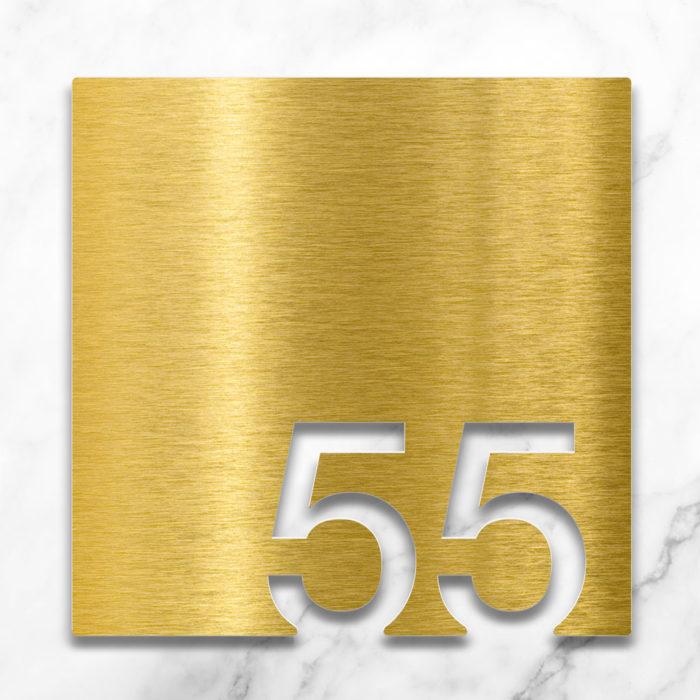 Messing Zimmernummer 55 / Z.03.055.M 2