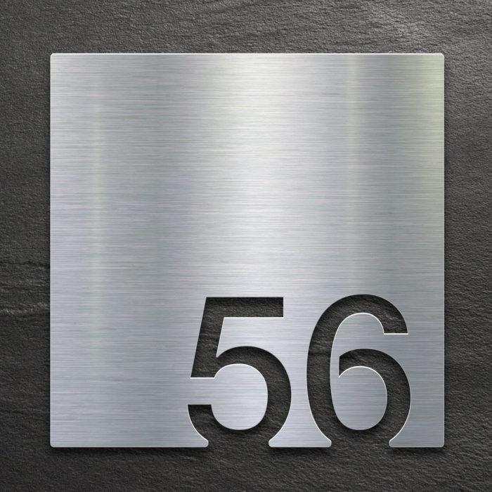 Edelstahl Zimmernummer 56 / Z.03.056.E 1