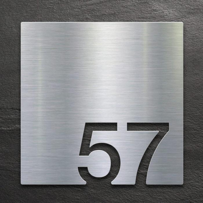 Edelstahl Zimmernummer 57 / Z.03.057.E 1
