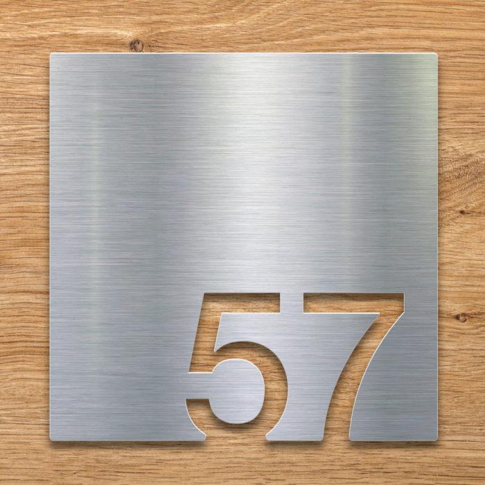 Edelstahl Zimmernummer 57 / Z.03.057.E 2