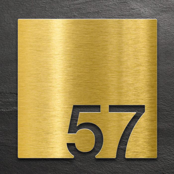 Messing Zimmernummer 57 / Z.03.057.M 1