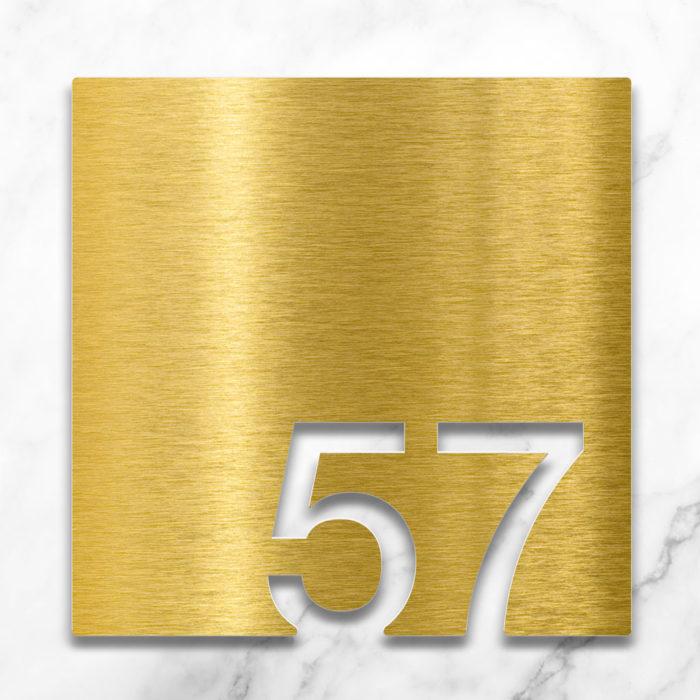 Messing Zimmernummer 57 / Z.03.057.M 2